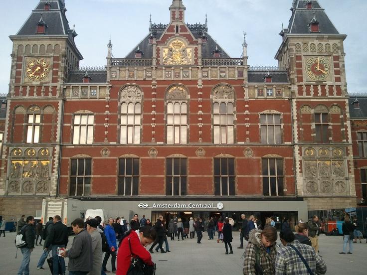 Amsterdam central station /アムステルダム中央駅 @Amsterdam