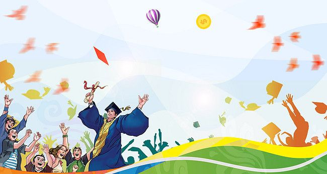 Graduation Carnival Cartoon Poster Background Material ...