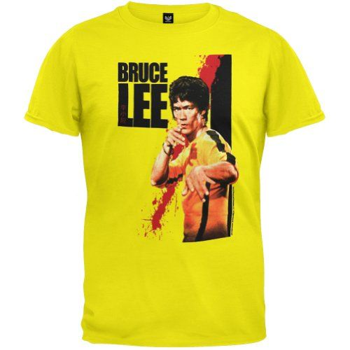 Bruce Lee - Mens Blood T-shirt Small Yellow Bruce Lee http://www.amazon.co.uk/dp/B005DFUV8S/ref=cm_sw_r_pi_dp_235wvb1EN1X93