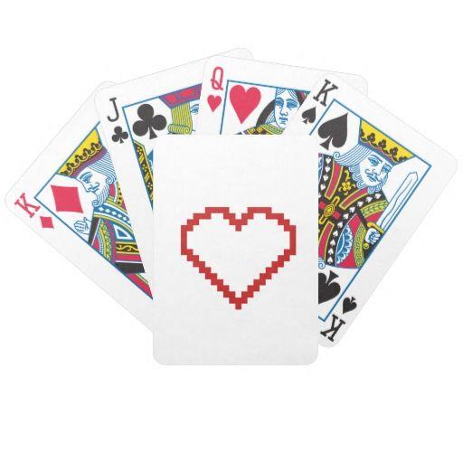 Pixel art heart cards
