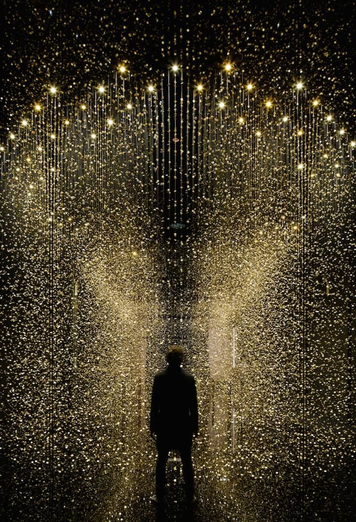 This suspended installation by Tsuyoshi Tane and CITIZEN is composed of 80,000 watch parts!