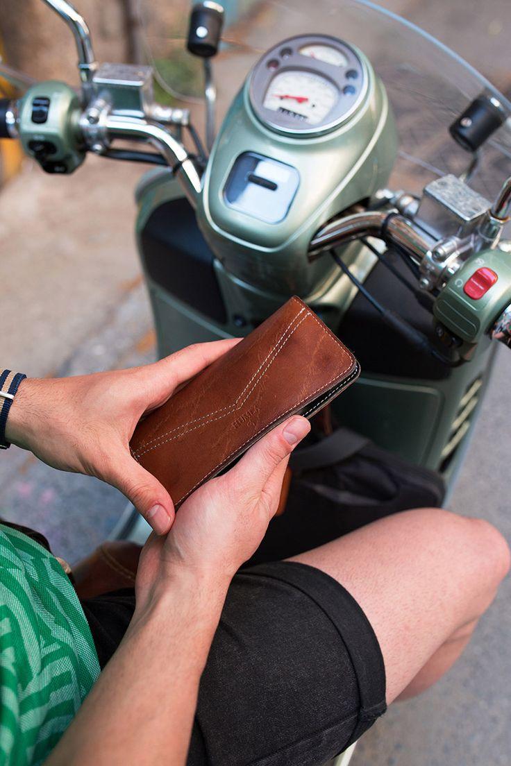 Kahverengi Telefon Kılıfı Cüzdan / Brown Phone Case Wallet