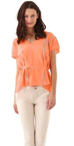 Elizabeth and James Faye Top: Jeans Combinations, Outfits, Colors Orange, Colors Combinations, White Pants, Color Combinations