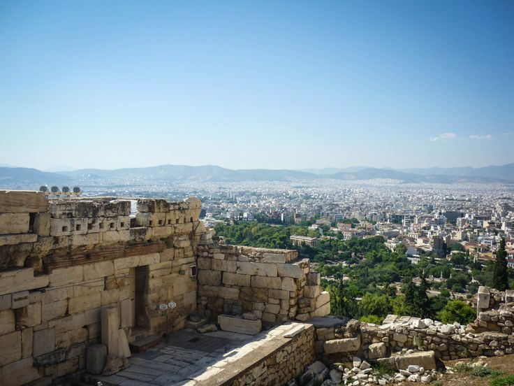 Looking out from Akropolis, Athens, Greece. Download here.
