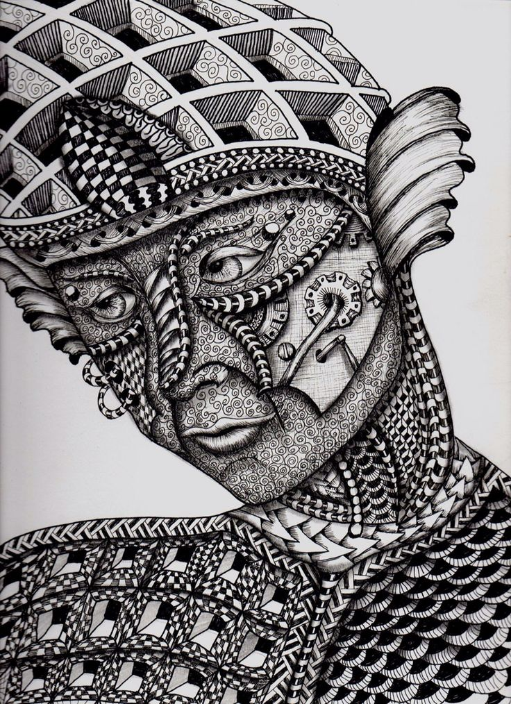 zentangle face draw patterns drawing coloring pages eye joseph uploaded user