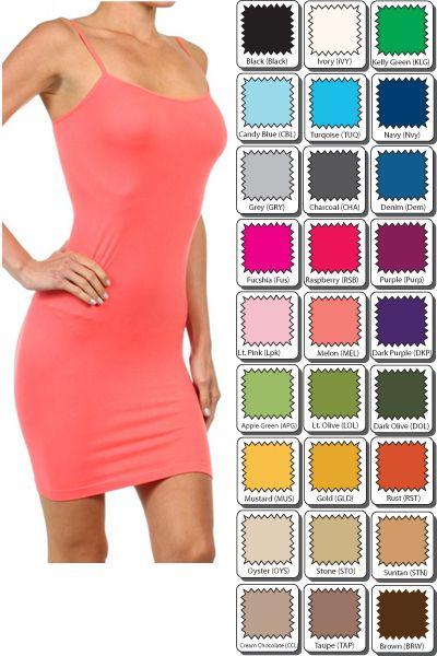 Slip dresses for sheer overlays.