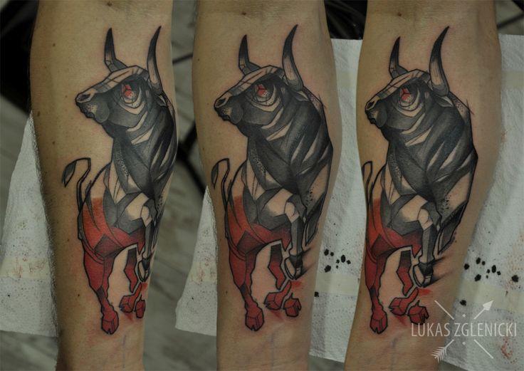 Lukas Zglenicki- Cykada Sopot #tattoo #bull #bulltattoo
