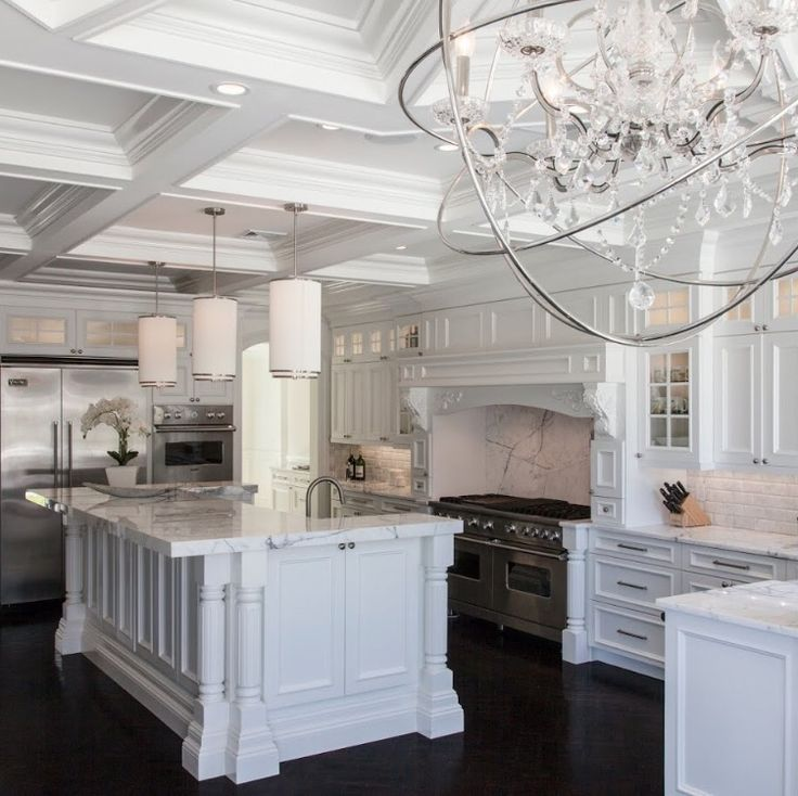 Upper Brookville NY Kitchen Design By JSE Design. White On White On White  On Black