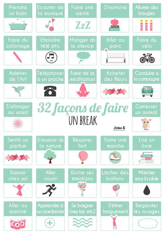 32 façons de faire un break   #Conseils_Sport_Lotus: