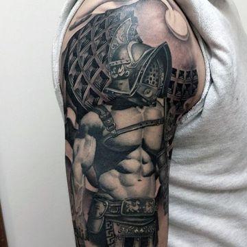 Realistas Y Novedosos Tatuajes De Guerreros Romanos Tatuajes En El