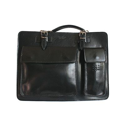Ladies Black Italian Leather Briefcase/Work Bag(Medium Size) - RRP £74.99, our price - £59.99
