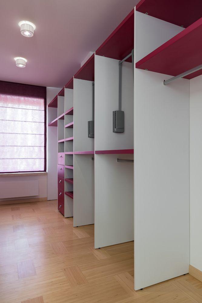Open Contemporary closet space