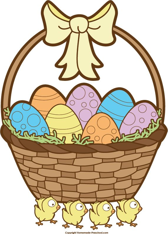 Easter Basket Clipart Black And White Images