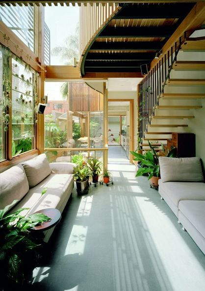 North Carlton Green House by Zen Architects. Maximized green space,  minimized resource use (