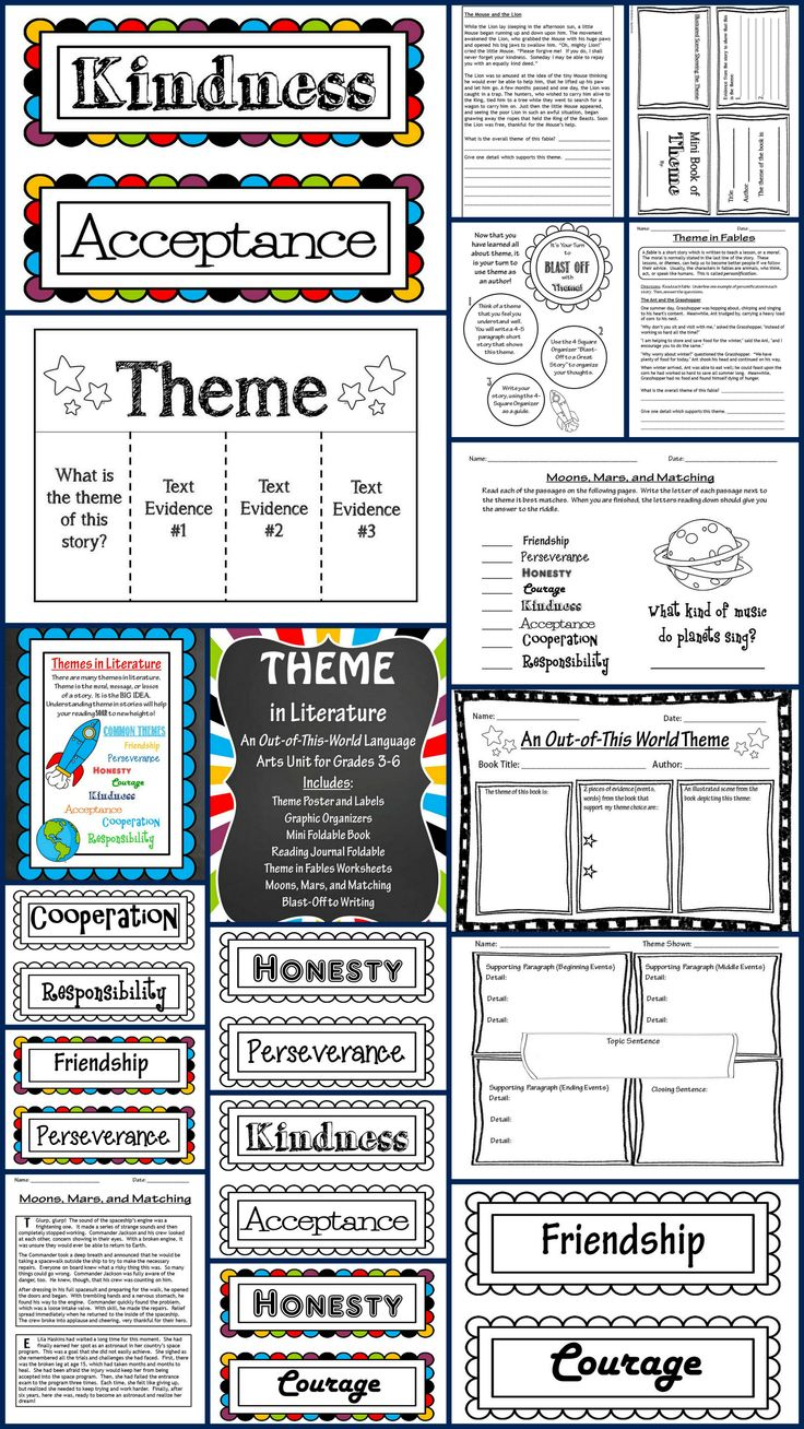 66 best fifth grade images on pinterest school teaching and teaching theme in literature unit huge packet contains theme labels common core posters fandeluxe Gallery