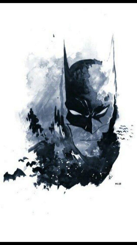 Batman watercolor