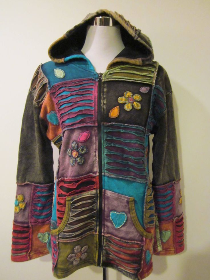 PATCHWORK ~ Happy Fleece Lined Hippie Jacket!#Hippie #Handmade #Isoley #Fairtrade #Gypsy #Unique #Hippy #Ethicalclothing