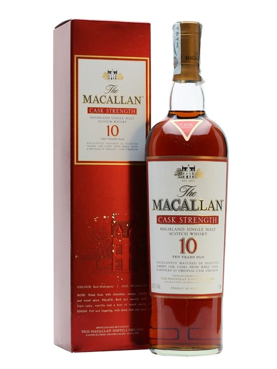 Macallan 10 Year Old / Cask Strength Scotch Whisky : The Whisky Exchange