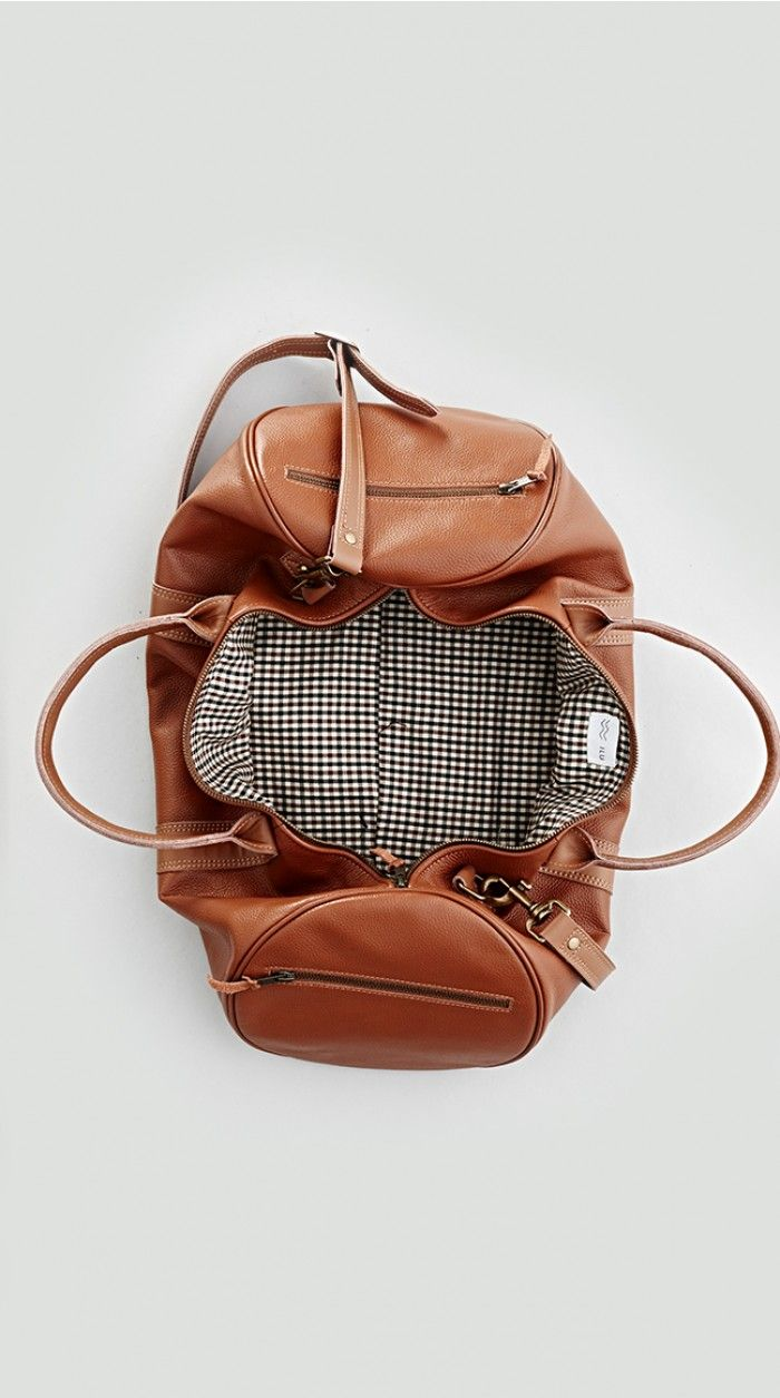 Leather Duffle Bag.