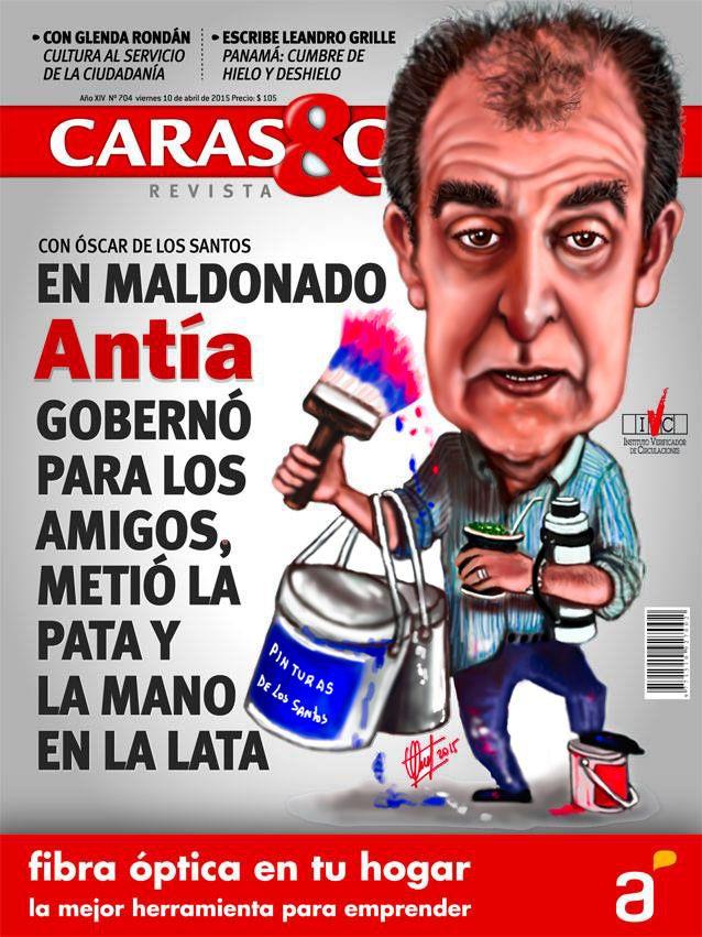 Caricatura de tapa. Revista CARAS & CARETAS
