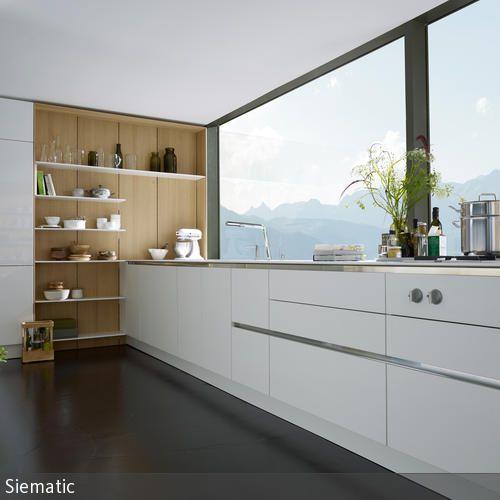 102 best Küche images on Pinterest Dream kitchens, Kitchen ideas - küche weiß matt grifflos