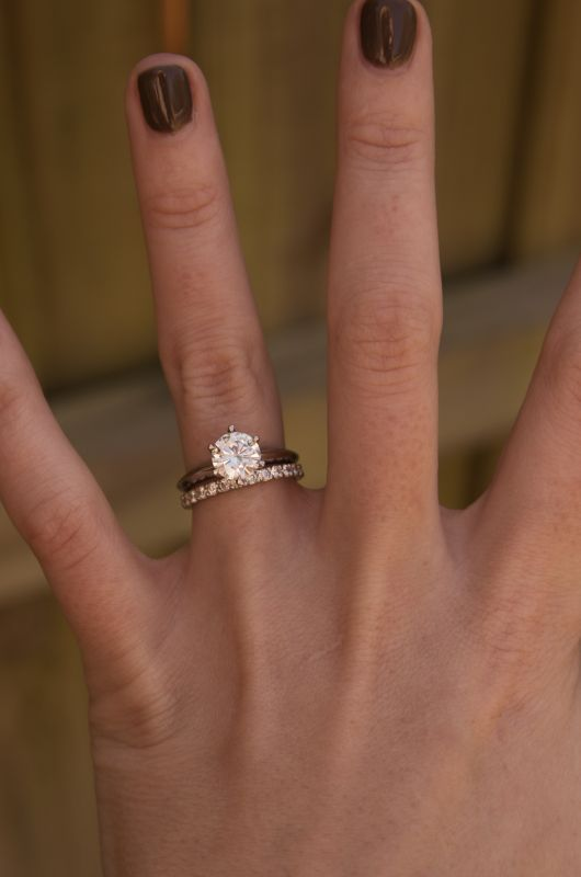 Wedding band to go with knife edge engagement ring? « Weddingbee Boards