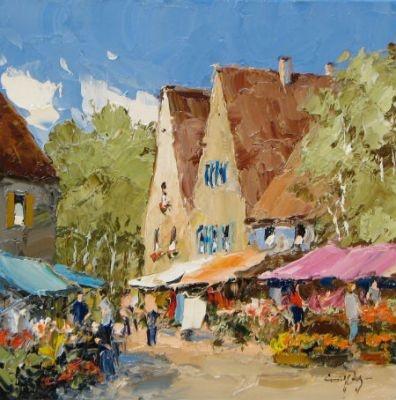 Erich Paulsen: Original Oil  Village