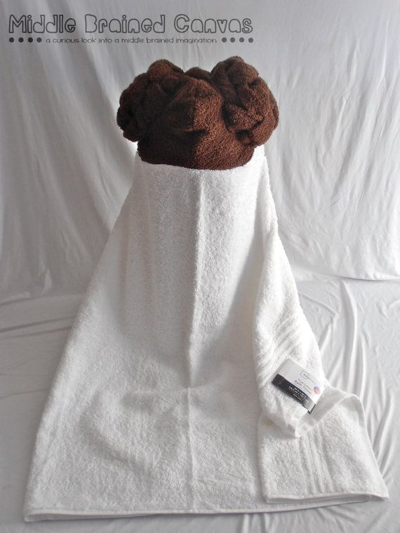 Princess Leia Starwars Hooded Bath Towel by MiddleBrainedCanvas, $29.00