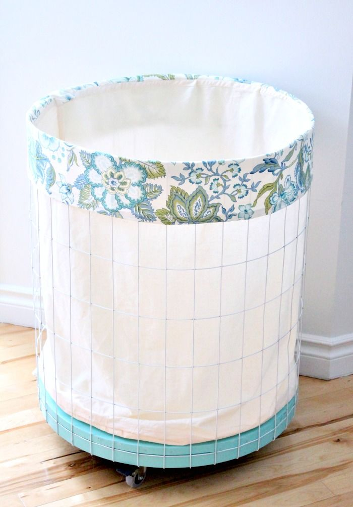 Diy Hamper Liner Perfect For Wire Laundry Hampers Laundry