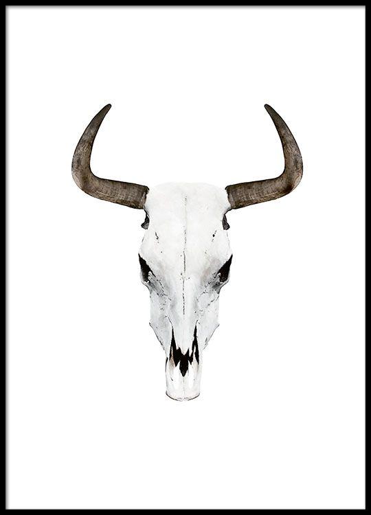 Plakat med stilig bøffelhorn.