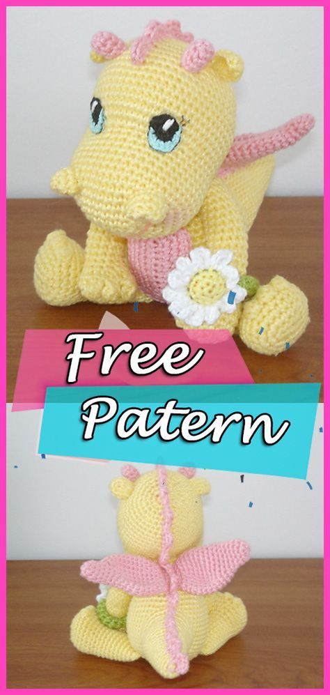 Baby Dragon Amigurumi häkeln frei Muster - | DIY Amigurumi | Crochet ...