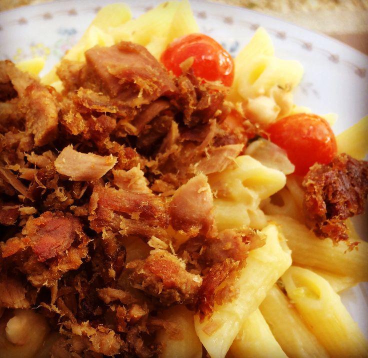 Y nuestro resultado final se llama: Pasta e fagioli cannellini con tonno croccante... ¡Fantastico! #SugoDiPomodoro  #Cocina  #Recetas #Nutrición