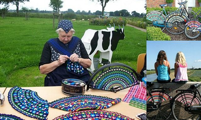 "crochetingclub: crocheting bicycles. ""dress guards"" #Overijssel #Staphorst"
