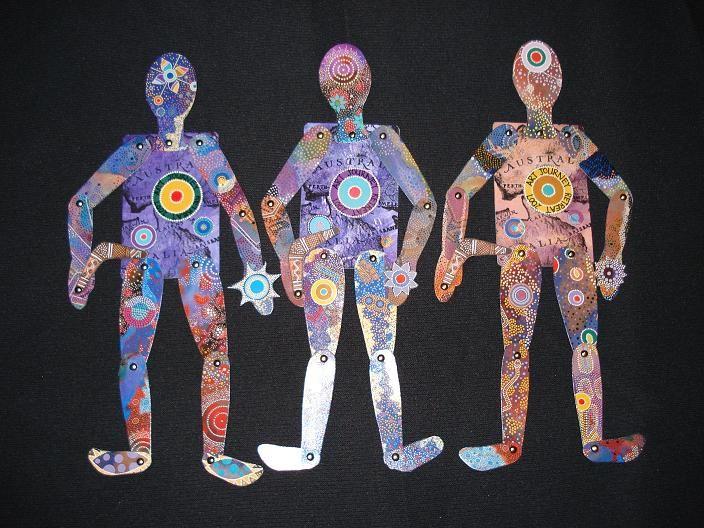 Heather Crossley - AUSTRALIANA - Paper Art ATC Doll