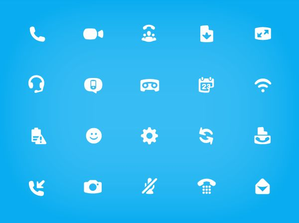 Skype Iconography. Icon Design for Skype UI