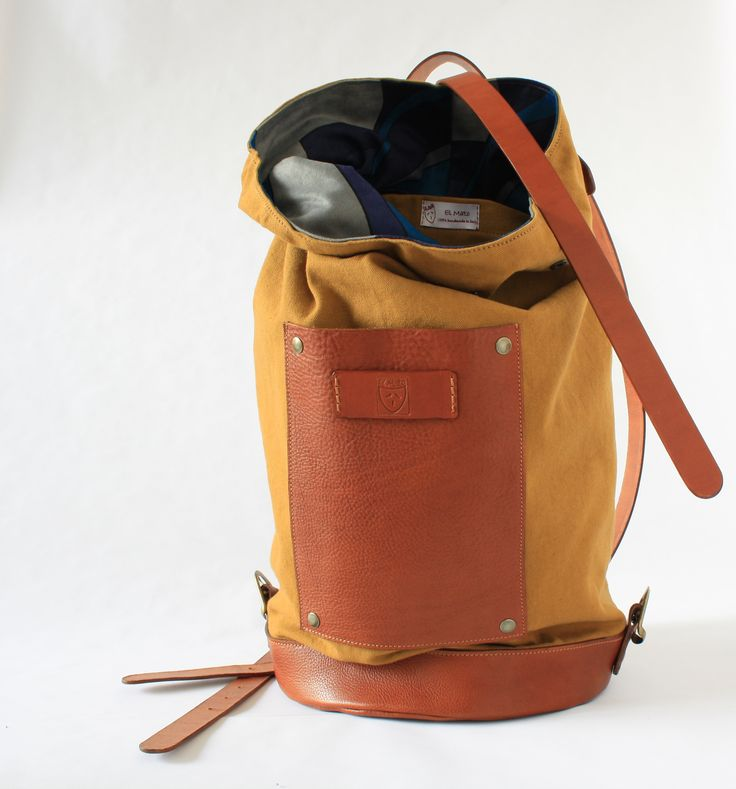 backpack leather and canvas made in  italy!  #leather_backpack#canvas_backpack#travel_bags#handmade_backpack#zaini_in_pelle#zaini_in_cotone#zaino_artigianale#