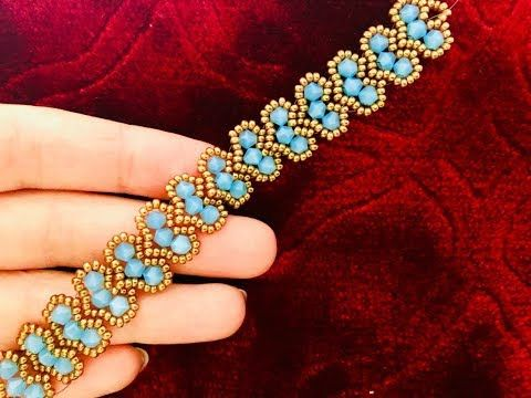 Cluster Herz Armband || DIY Perlen Armband || Doppelkegel-Armband – YouTube