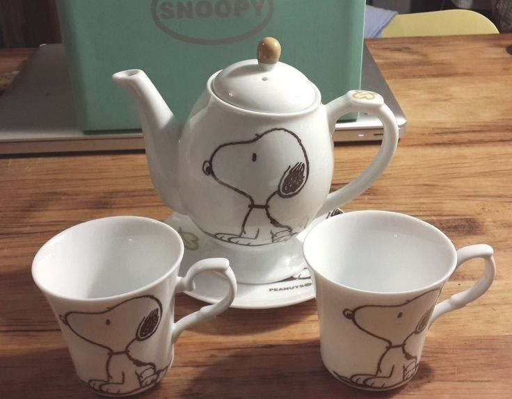 snoopy coffee tea cups set 5 pieces  picclick.com