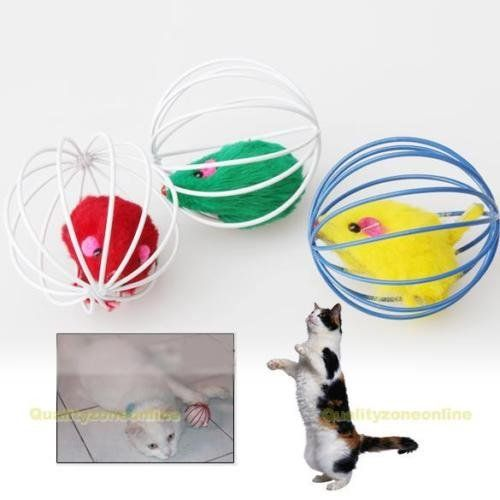 Funny Pet Cat Lovely Kitten Gift Interactive Play Toys with Fake Mouse Ball >>> Read more at the image link.