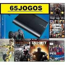Ps3 Super Slim 320 Gb C/ Pes2017+ 65 Jogos Originais No Hd