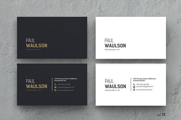 Business Card by ThemeDevisers on @creativemarket Clean multipurpose business card template Ideal for personal identity. This super clean design has been crafted for the true professionals. Fully editable template, very easy to use and customize in Adobe Photoshop, Illustrator, Indesign & MS Word. You can change images of your choices, texts & colors easily.