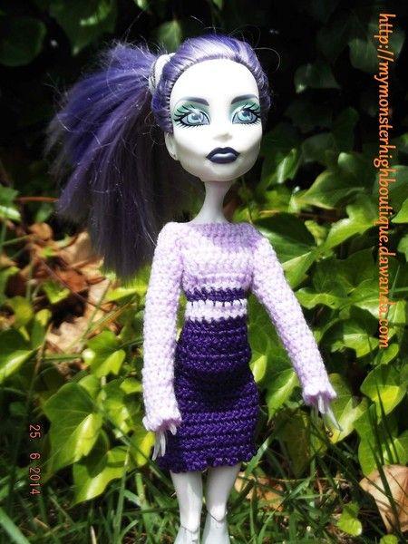 Vestido para Monster High v275 de My Monster High boutique por DaWanda.com