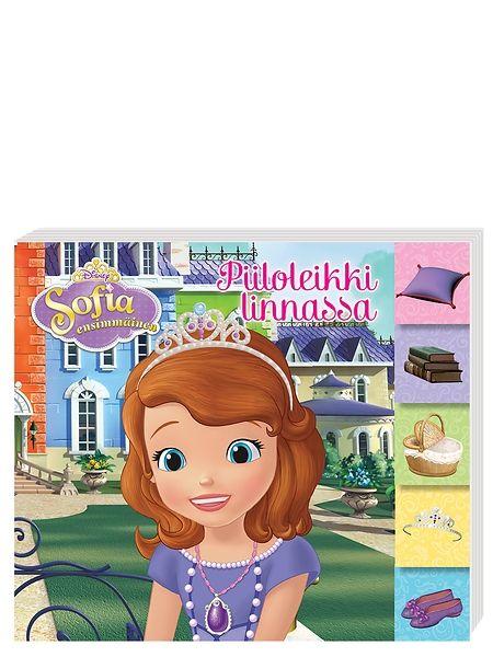Sofia ensimmäinen, Piiloleikki linnassa -kartonkikirjassa linnanväki on piiloutunut linnaan ja Sofia ensimmäisen tehtävänä on löytää heidät. Löydätkö sinä avaimen linnan porttiin? Kirjassa on 10 vahvaa kartonkisivua.