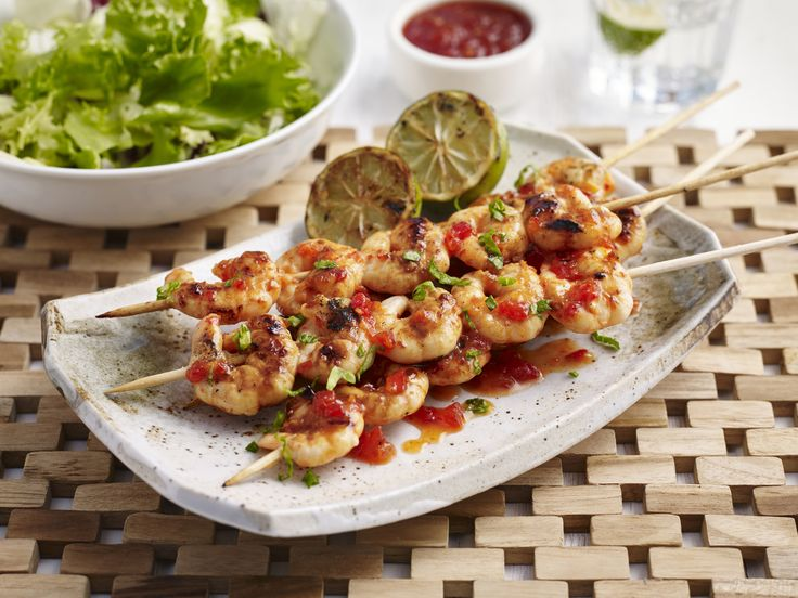 Barbecued Prawns with Tracklements Fresh Chilli Jam
