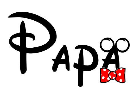 Mickey Papa or Papaw Disney Custom Personalized Iron on t-shirt Transfer Decal(iron on transfer, not digital download)