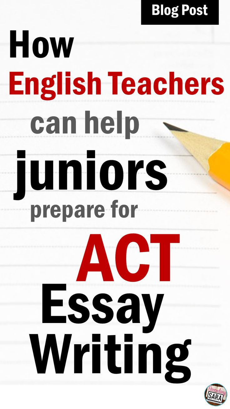 Tips to help any high school English teacher prep his or her students to do well on the ACT's Writing/Essay section!