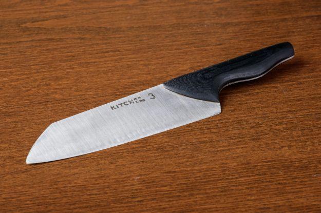 Chefs knife prototype no.3. 440C blade, black micarta handle