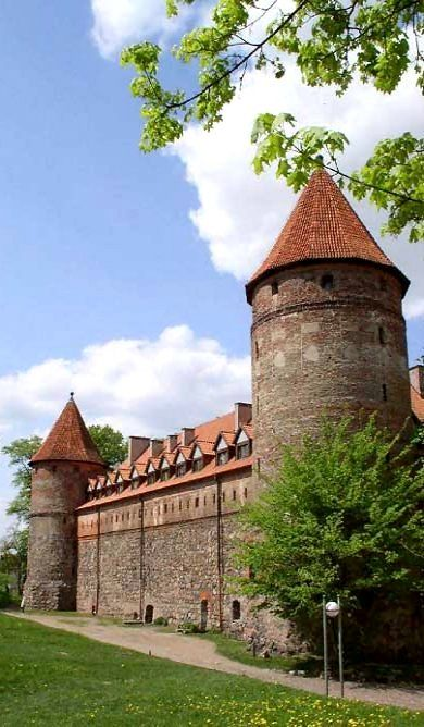 Gothic castle of Teutonic Knights (14th-century) in Bytów, Pomeranian, Poland