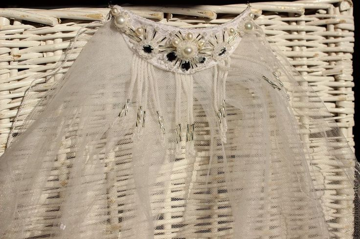 Купить Фата с заколкой. - белый, свадебная фата, фата невесты, фата для невесты, фата длинная