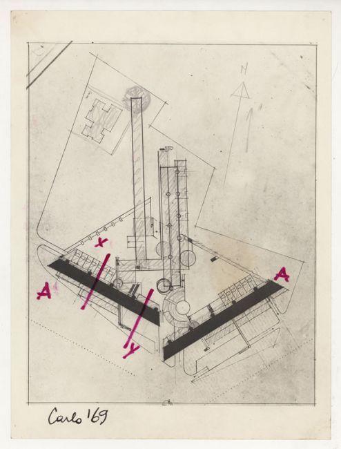 """C.AYMONINO - Complesso abitativo """"Monte Amiata"""" Quartiere Gallaratese, Milano (1967-1972)"""